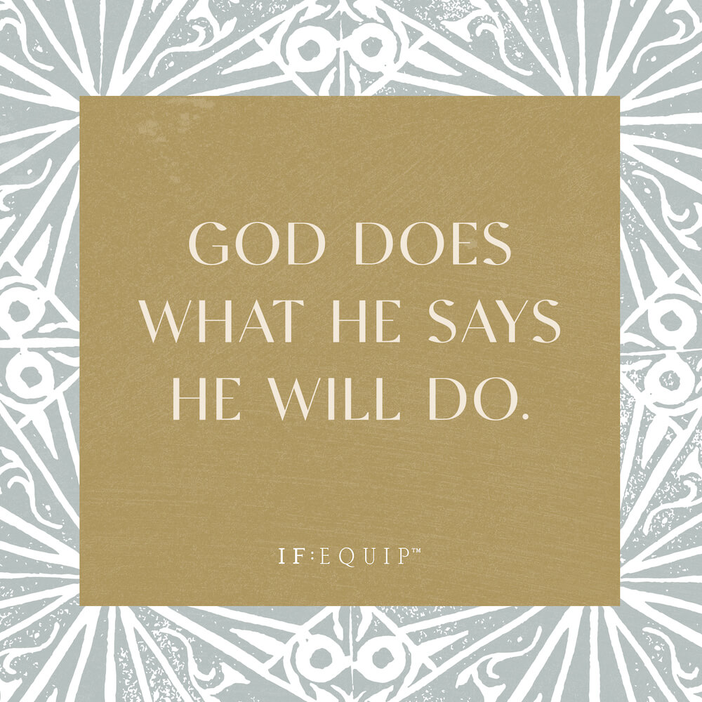 God Does What He Says He Will Do Book Cover